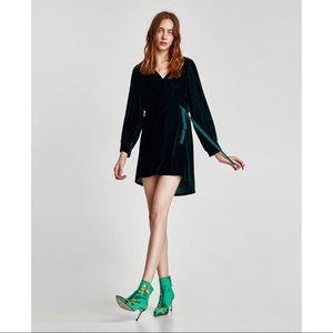 Zara Velvet Dress with Hood